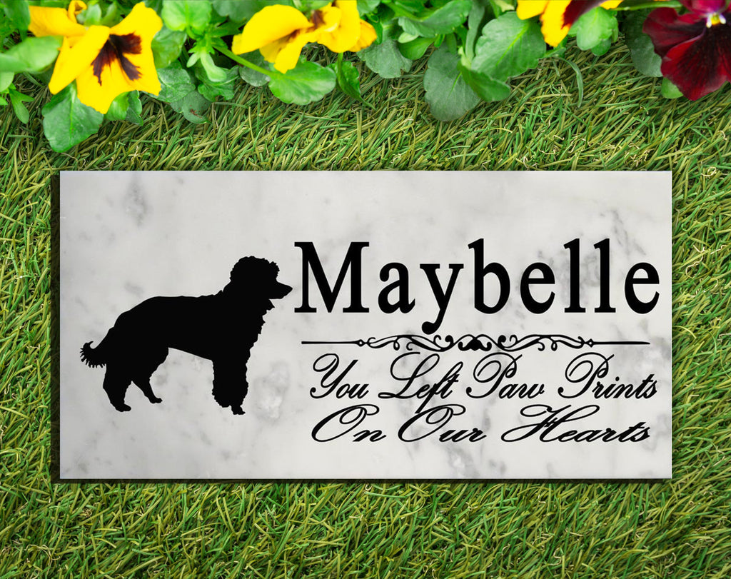 Miniature Poodle Memorial Stone PERSONALIZED Dog Garden Rock Grave Marker Outdoor or Indoor