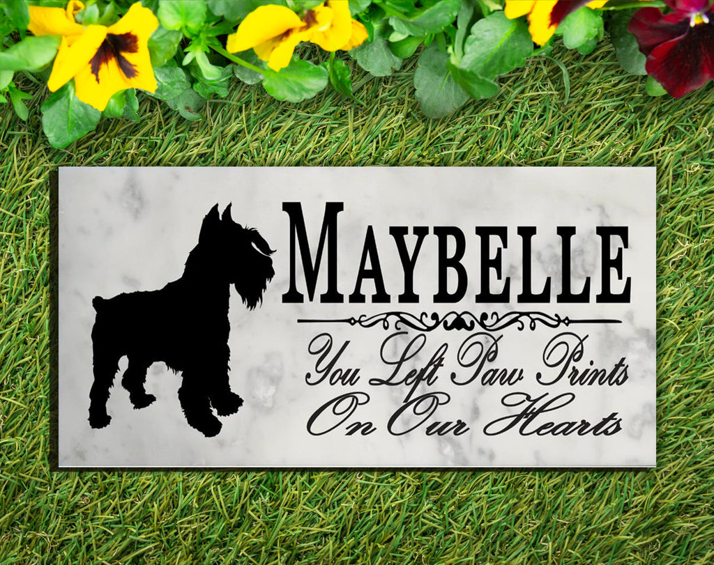Schnauzer Memorial Stone PERSONALIZED Schnauzer Dog Garden Rock Grave Marker Outdoor or Indoor