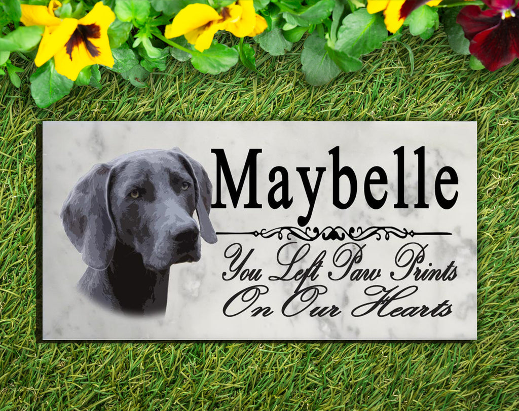 PERSONALIZED Weimaraner Memorial Stone Dog Grave Marker Pet Garden Plaque