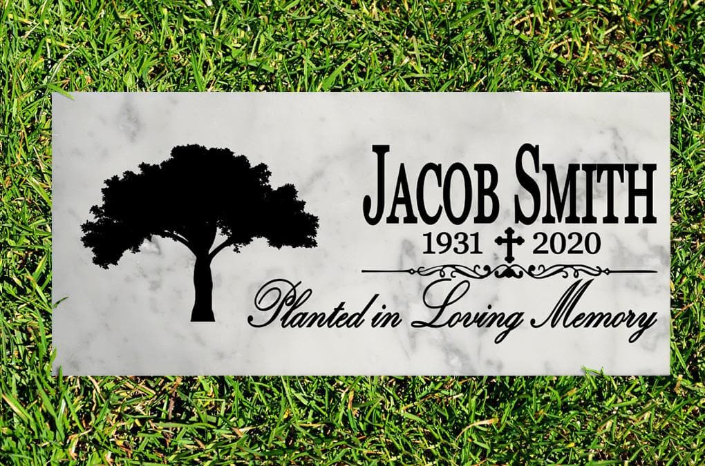 Broad Bay Personalized Planted in Loving Memory Memorial Stone Gift Custom Memory Sign Outdoor Remembrance Plaque