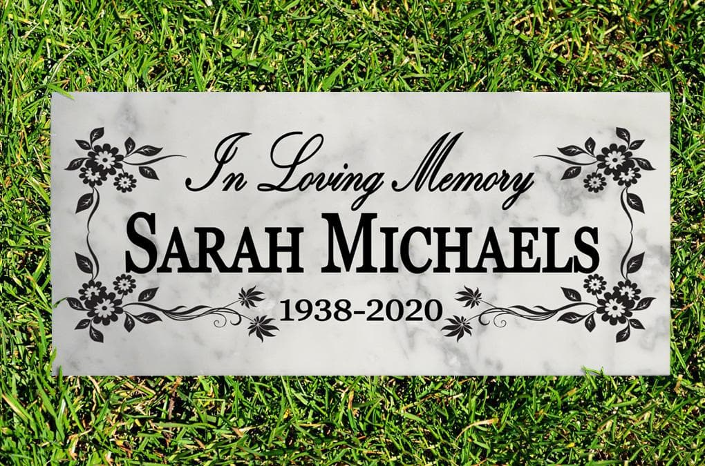 Broad Bay Personalized In Loving Memory Memorial Stone Gift Custom Memory Sign Outdoor Remembrance Plaque