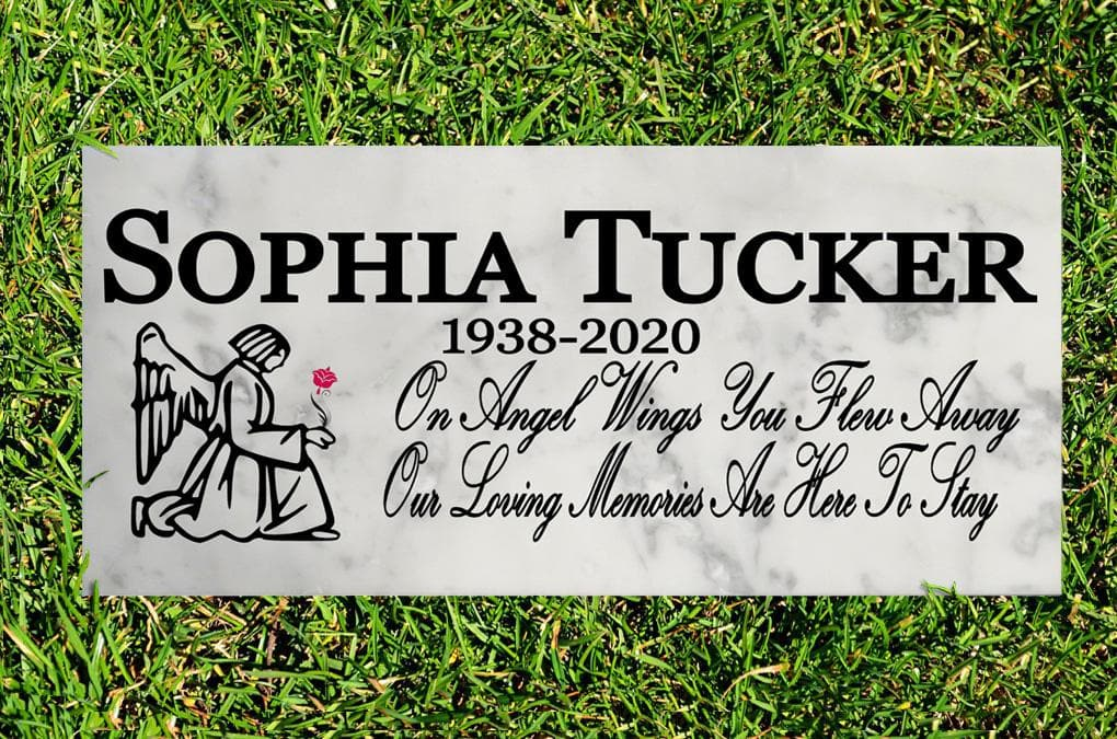 Custom Memorial Stone Sign Gift OUTDDOORS or INDOOR