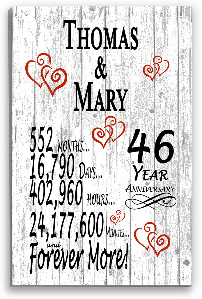 46 Year Anniversary Personalized Gift