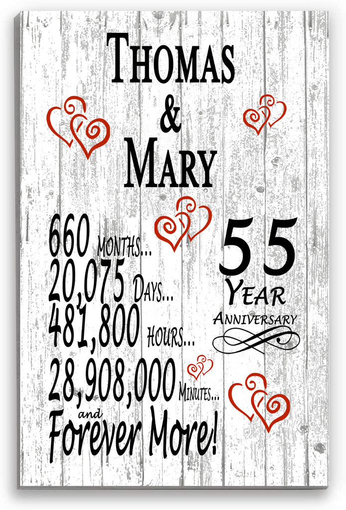 55 Year Anniversary Personalized Gift