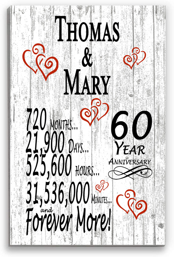 60th Wedding Anniversary Personalized Gifts