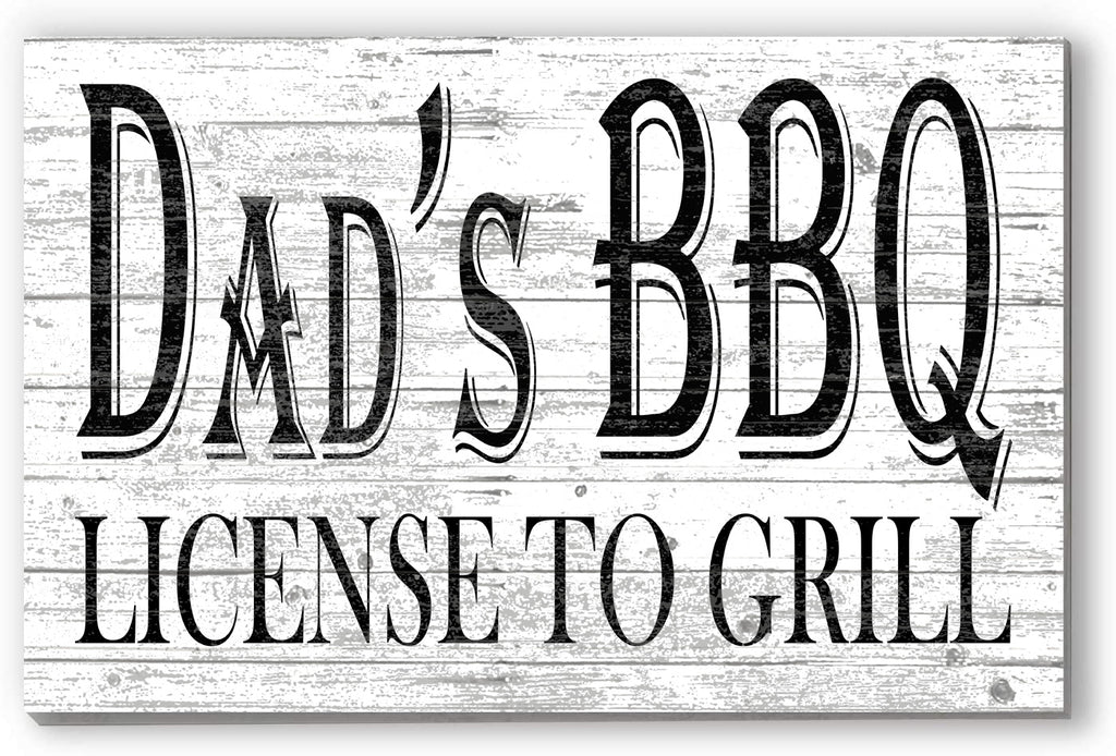 Customized Name Sign Licensed to Grill Personalized Wood Farmhouse Décor for Dad, Grandpa, Father's Day Gift Idea