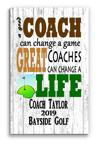 Personalized Golf Coach Gift