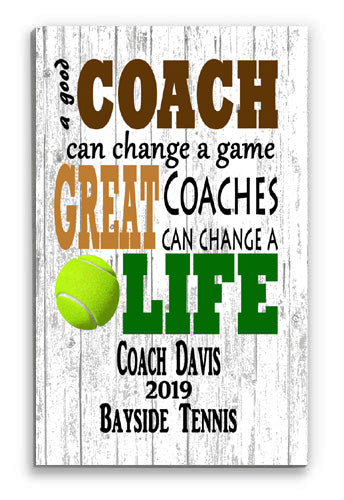 Personalized Tennis Coach Gift For GREAT Coaches