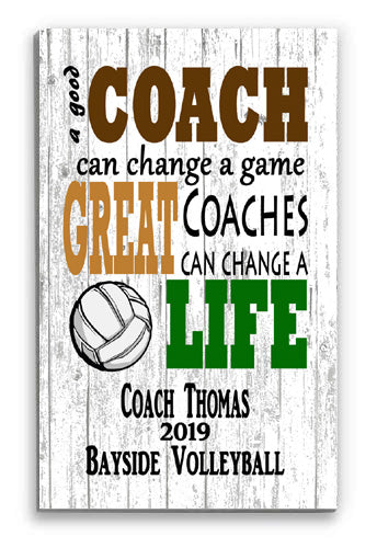 Personalized Volleyball Coach Gift for GREAT Volleyball Coaches