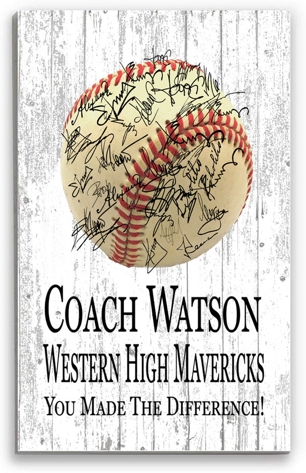 Baseball Coach Gift  Signable