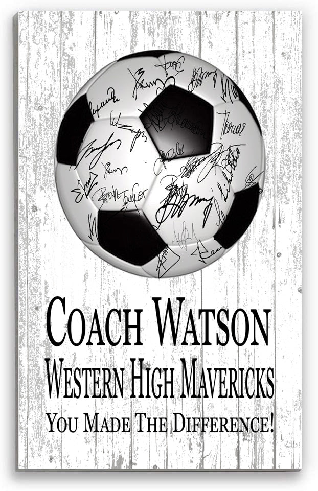 Soccer Coach Gift Personalized SIGNABLE Sign