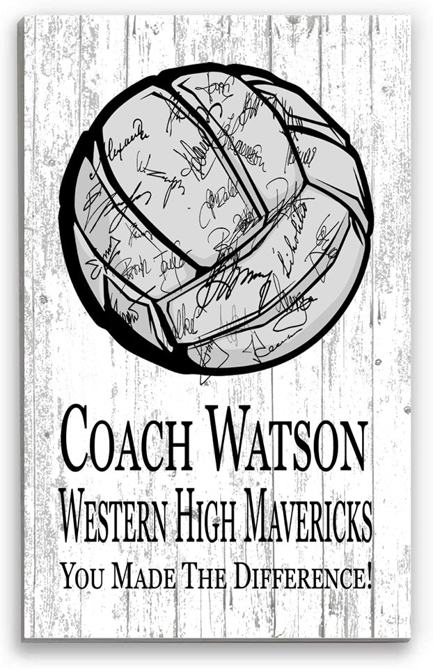 Volleyball Coach Gift  Signable