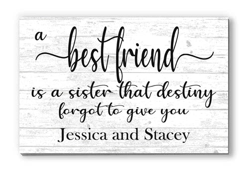 Best Friend Gift Idea Sign Custom and Personalized for Friend, Sister, Bridesmaid, Maid of Honor