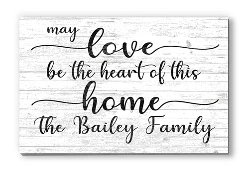 Personalized Family Name Sign Farmhouse Quote Decor for Home, Anniversary, Wedding, Couples Gift Idea