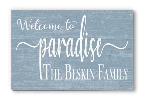 Family Name Sign Personalized Welcome Wall Décor for New Home, Mother's Day, Father's Day, Wedding, Anniversary, Couples Gift Idea