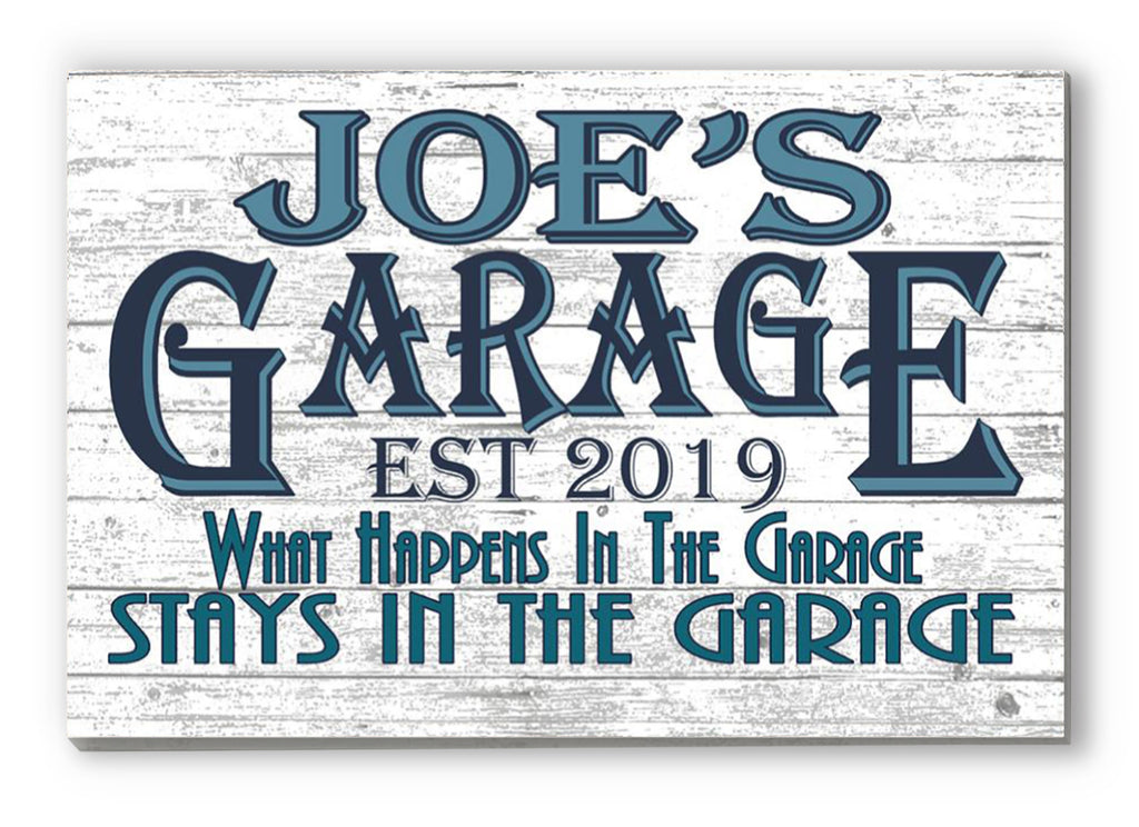 Garage Sign CUSTOM Man Cave Wall Art For Him Husband Father Dad Grandpa