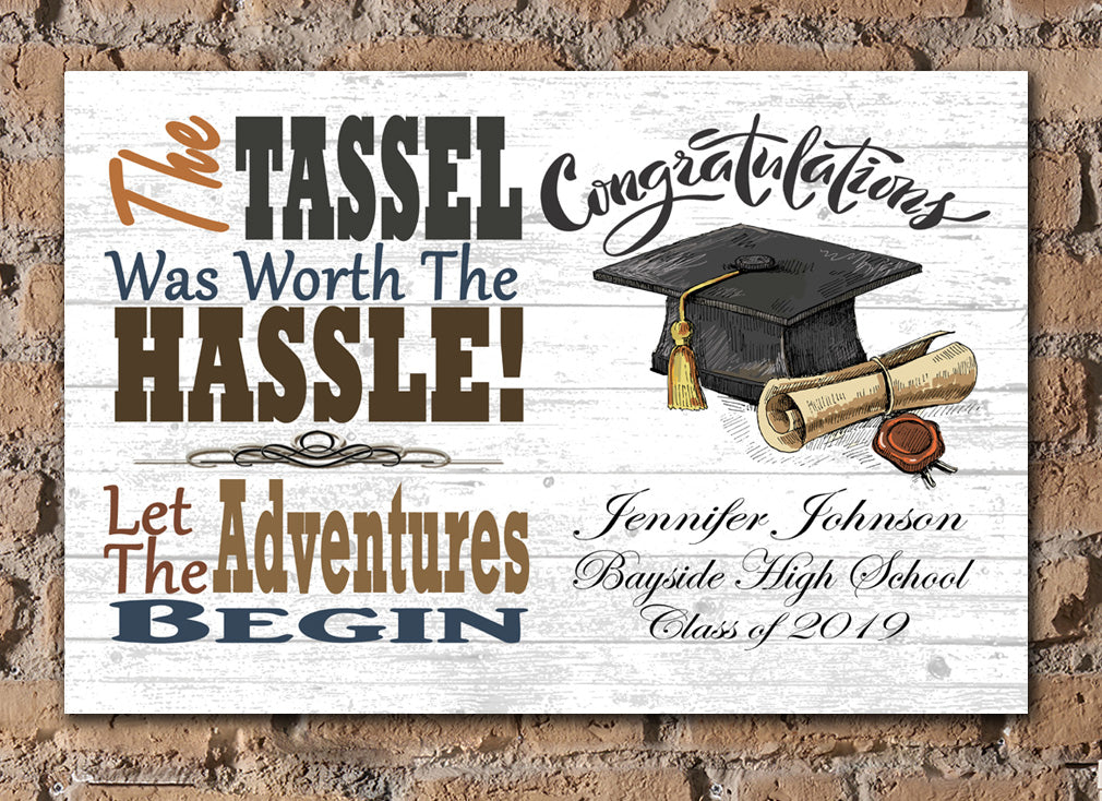 Graduation Gift Personalized Graduate Gifts for High School or College & University Farmhouse Style