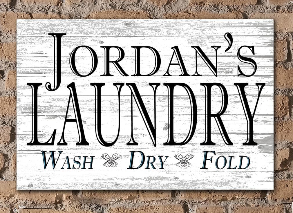 CUSTOM Laundry Sign Rustic Farmhouse Style Personalized Home Decor