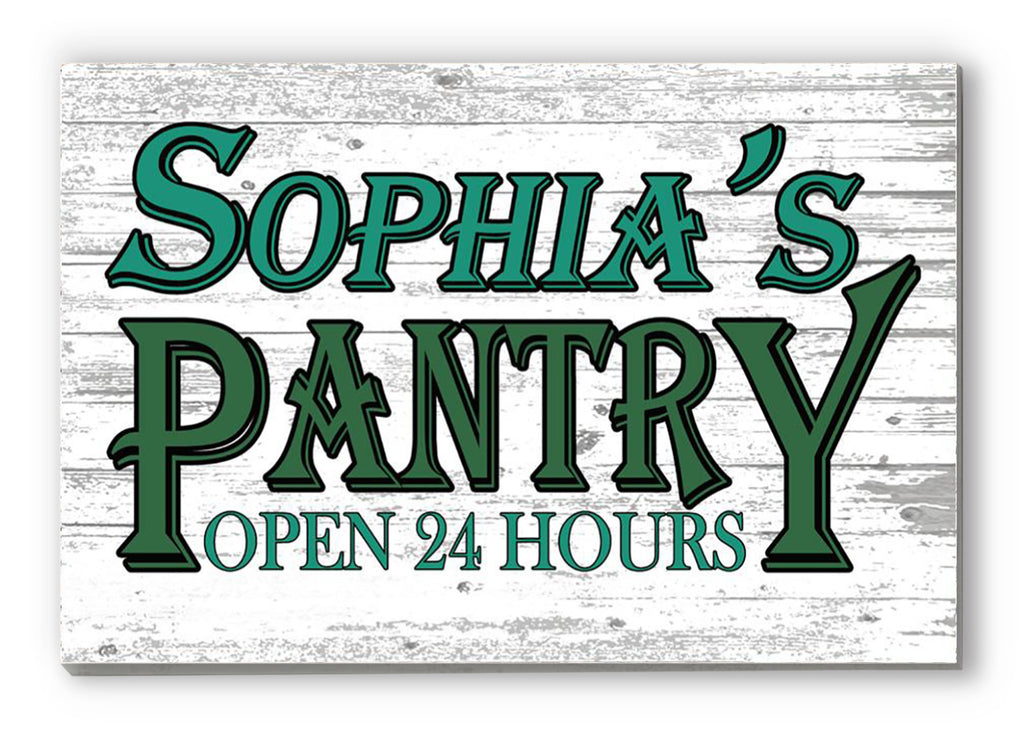 PERSONALIZED Kitchen Pantry Sign Rustic Farmhouse Style Decor DELIVERED in 2 DAYS!