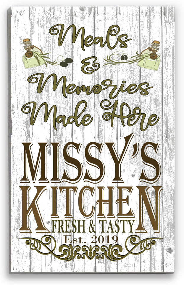 Personalized Kitchen Name Signs Custom Rustic Kitchen Decor Gift for Men Women Cooks Chefs