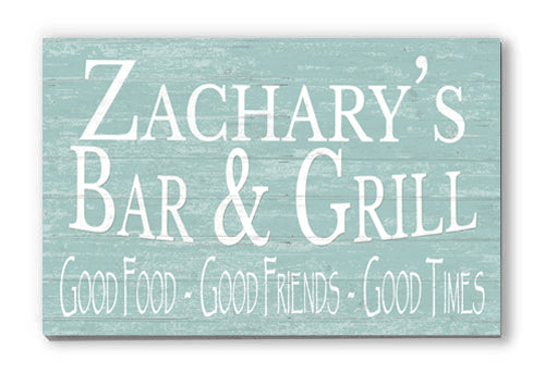 Customized Bar & Grill Personalized Sign for Father's Day, Man Cave Décor, New House, Birthday Gift Idea
