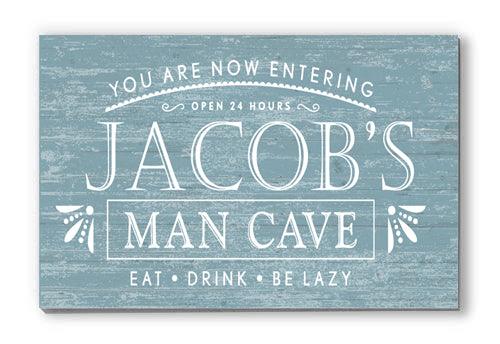 Customized Man Cave Personalized Sign Wall Décor for Father's Day, Birthday, New Home Gift Idea