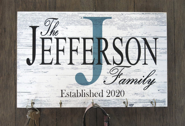 Date Broad Bay Family Name Sign Personalized Wedding Gift for Couple Monogram Established Custom Wall Decor EST