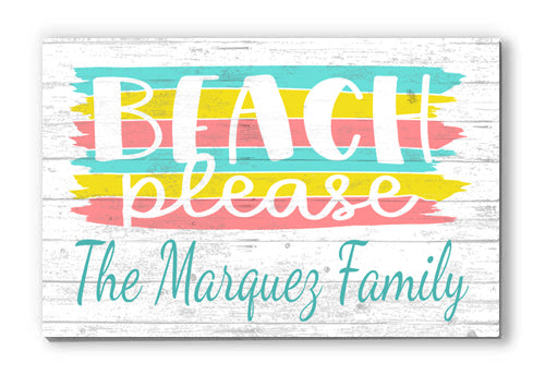 Personalized Summer Beach Customized Wood Seasonal Décor for Home, Birthday, Anniversary, Wedding, Couples Gift Idea