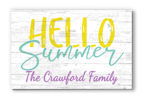 Personalized Summer Seasonal Décor Customized Wooden Farmhouse Sign for Home, Birthday, Anniversary, Wedding, Couples Gift Idea