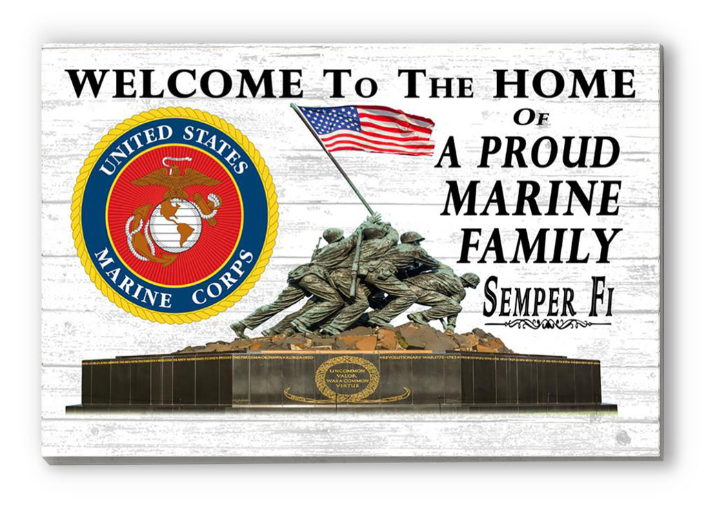 Proud Marine Family Sign Official United States Marine Corps Family Sign