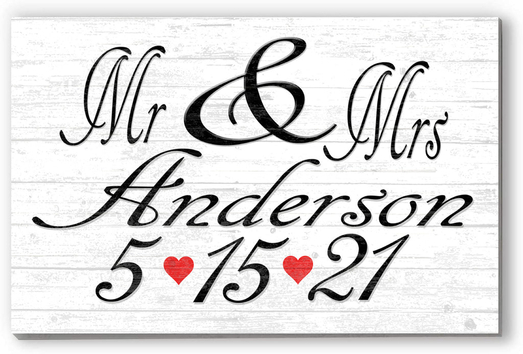 Personalized Wedding Date Customized Sign for Ceremony, Reception, or Engagement Photos. Wall, Easel, or Shelf Décor for Wedding, Anniversary Gift Idea