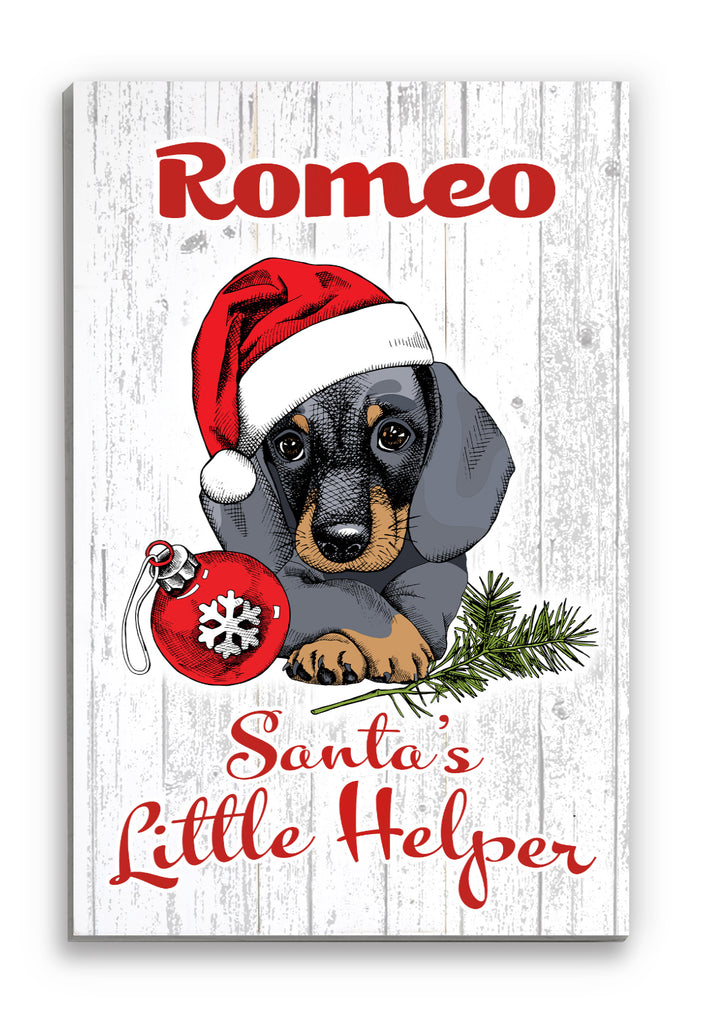 Christmas Dachshund Decoration Wall Art Wood Sign Personalized Design