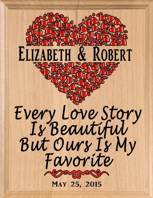 Personalized Wedding Gift or Anniversary Gift Sign - Every Love Story is Beautiful