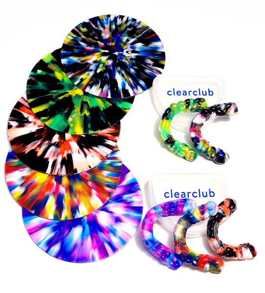 ClearClub night guards in a variety of colors