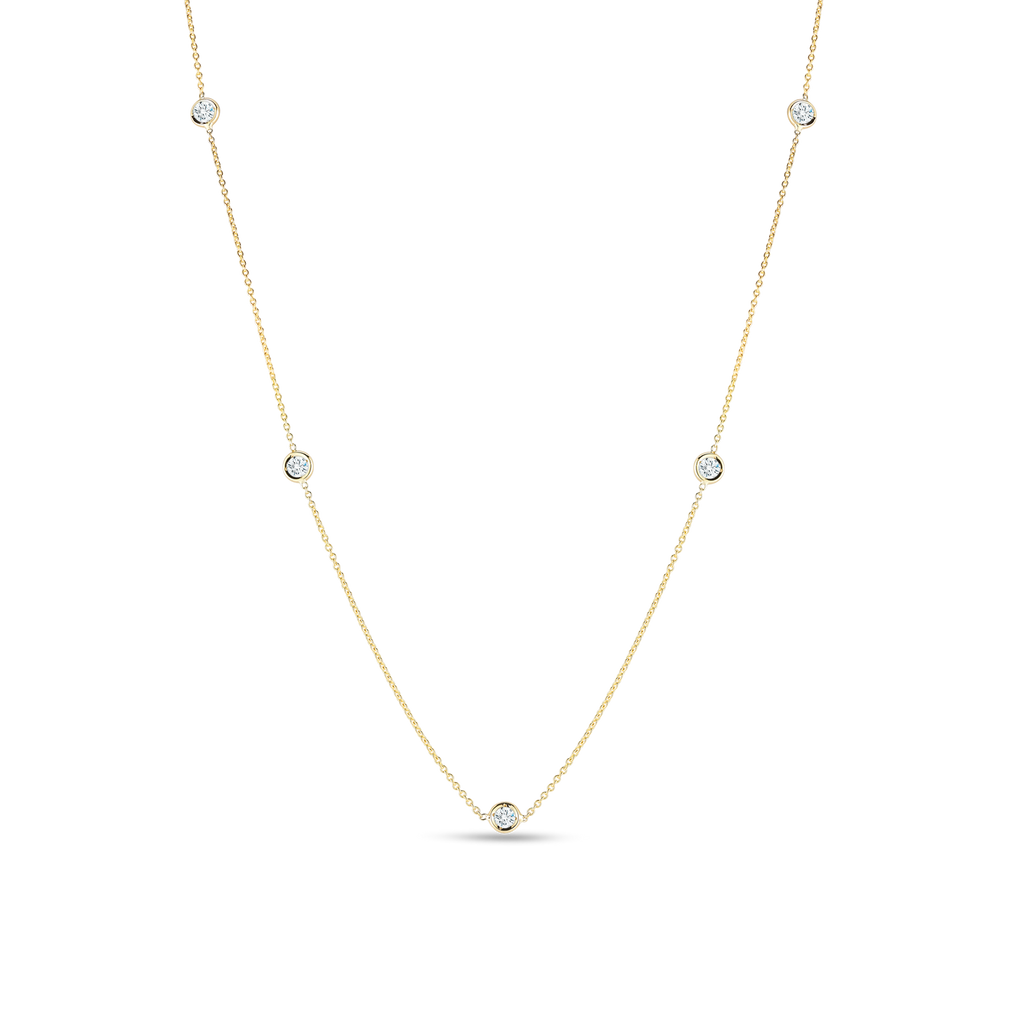 Roberto Coin 5-Diamond Station Necklace