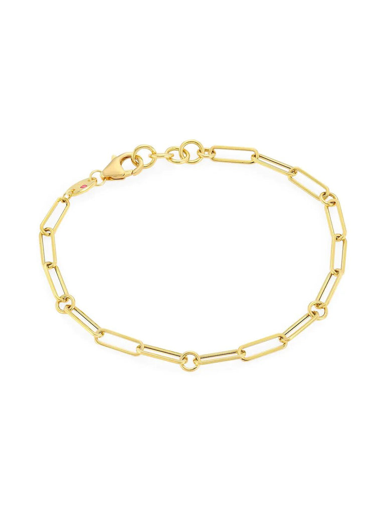 Roberto Coin 18K Yellow Gold Paper Clip Bracelet
