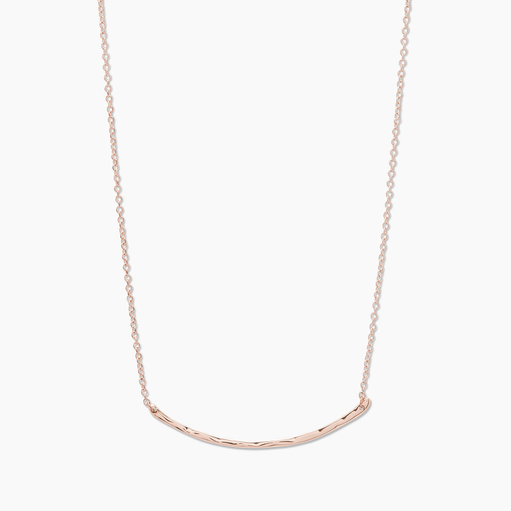 Taner Bar Small Necklace, Rose Gold