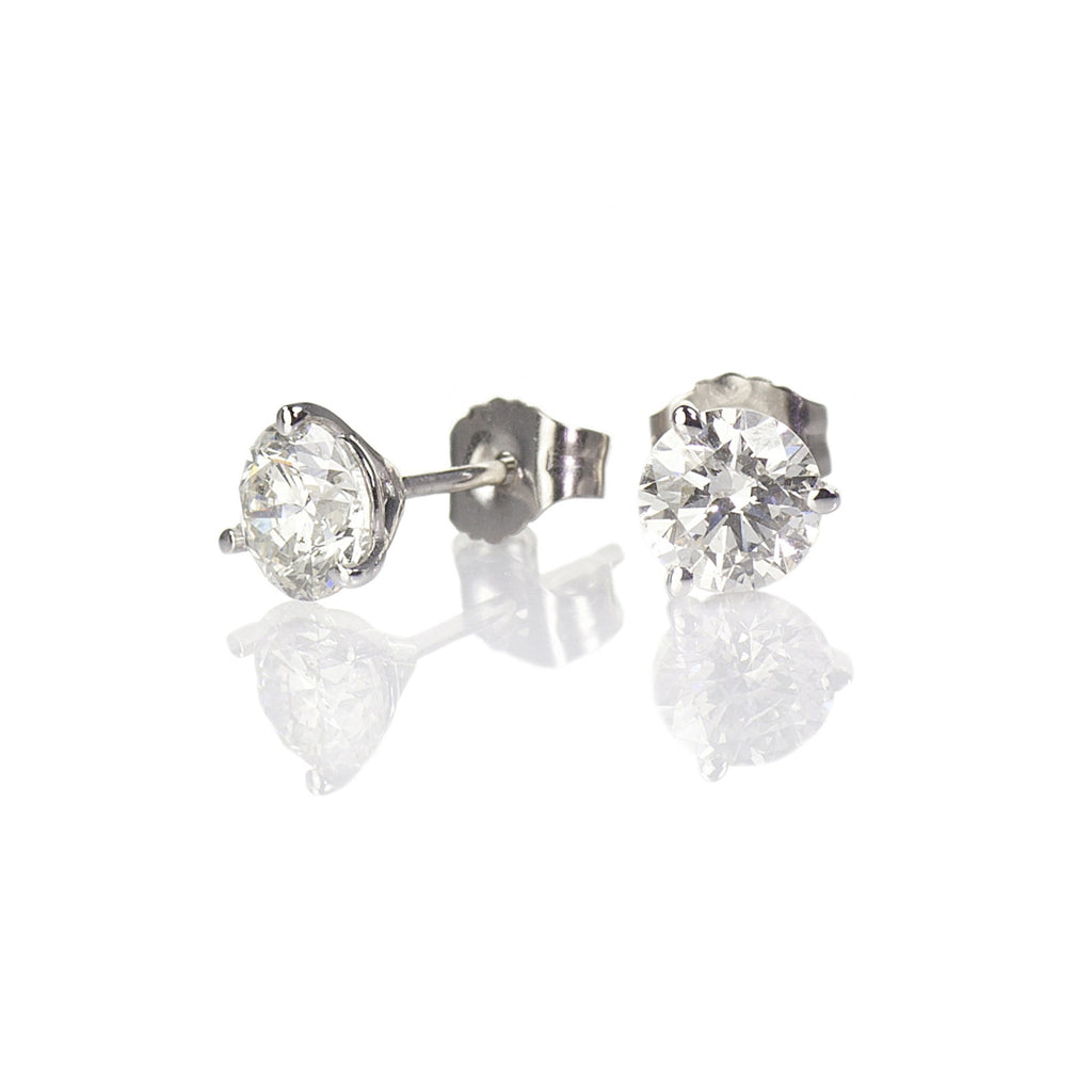 Diamond Stud Earrings, 1/10ctw