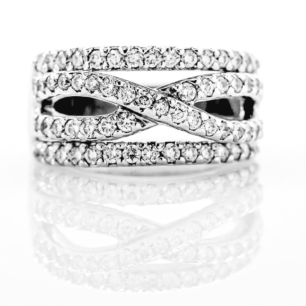 14K White Gold Infinity Band