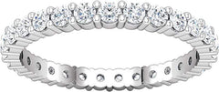 14 Karat White Gold Shared Prong Diamond Eternity Band
