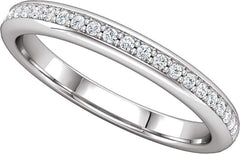 14 Karat White Gold Diamond Wedding Band