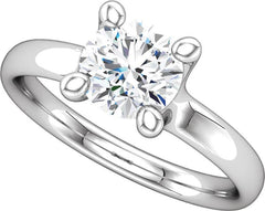 14 Karat White Gold Solitaire Engagement Ring Mounting