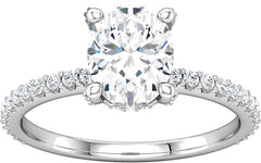14 Karat White Gold Diamond Engagement Ring Mounting