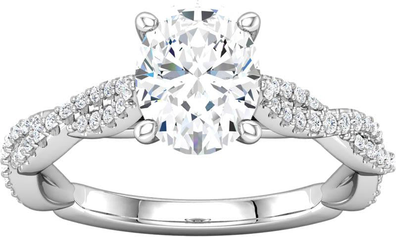 Diamond Infinity Inspired Engagement RIng