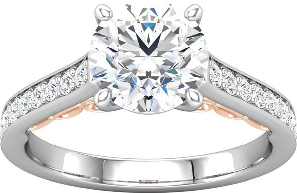 Diamond Engagement Ring with Filigree Detail