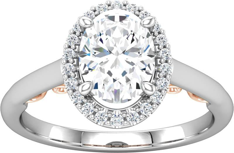 Diamond Halo Style Engagement Ring
