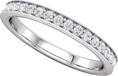 14 Karat White Gold Diamond Half Carat Band