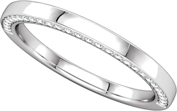 14 Karat White Gold Band With Diamonds