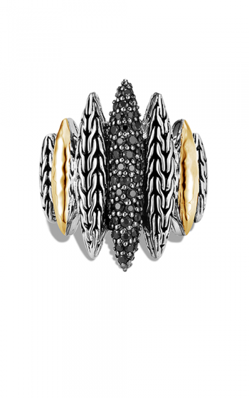 John Hardy Classic Chain Spear Ring, Black Sapphire, Black Spinel