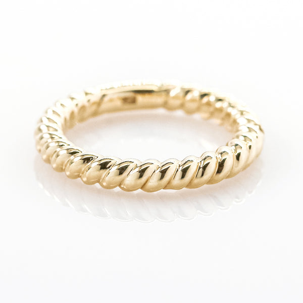 14K Yellow Gold Rope Style Band Ring